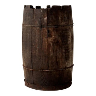 Antique Rustic Wooden Barrel