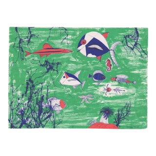 1990s Edward Arden Under the Sea Lithograph For Sale
