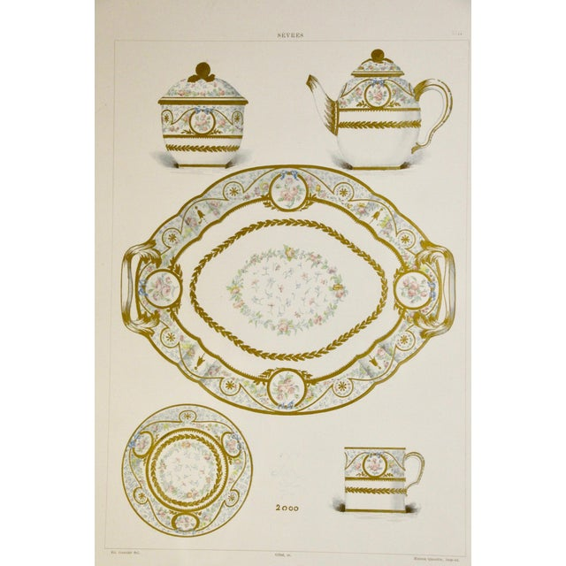 Late 19th Century Sevres Porcelain Illustrated Plates, S/4 For Sale - Image 5 of 9