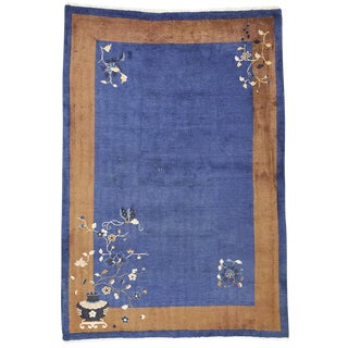 Art Deco Chinese Rug - 6′ × 8′7″ For Sale