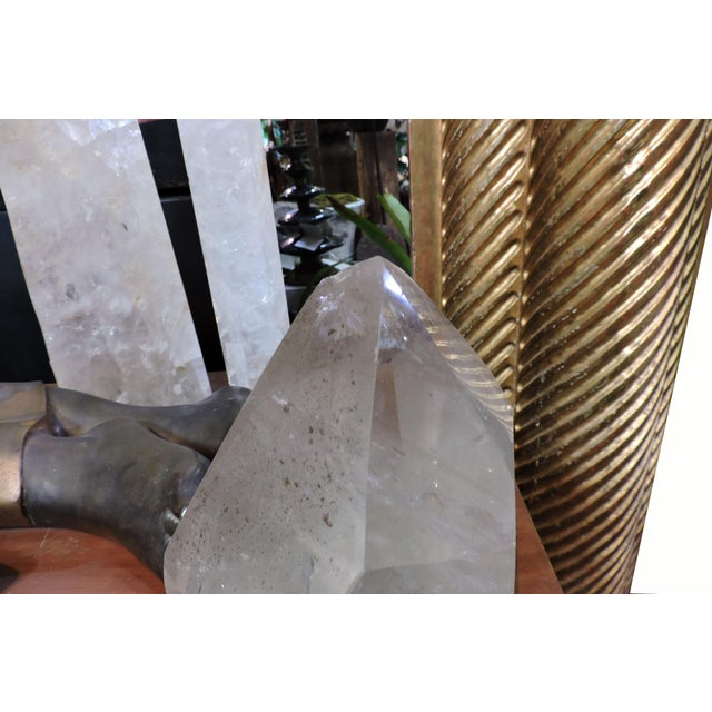 Art Nouveau Large Green Quartz Point For Sale - Image 3 of 6