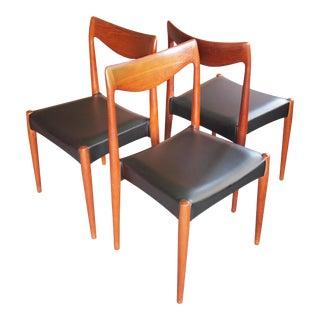 Gustav Bahus Rastad & Relling Solid Teak Side Dining Chairs - Set of 3 For Sale