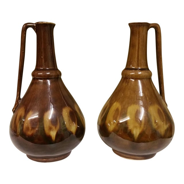 Mid-Century Poland Ceramic Decanter - A Pair - Image 1 of 5