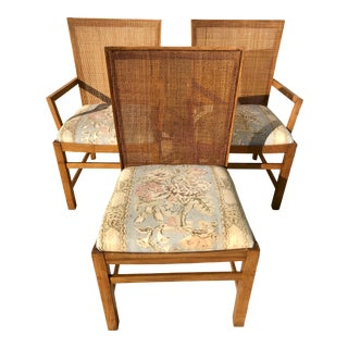 Michael Taylor for Baker Style Cane Back Dining Chairs - Set of 3 For Sale