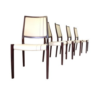 Jl Moller Rosewood Colored Chairs - Set of 6 For Sale