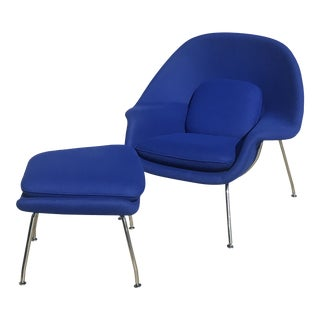 Knoll Womb Chair and Ottoman For Sale