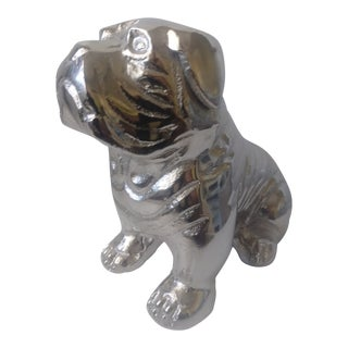 Metal Bulldog Paperweight Figurine For Sale