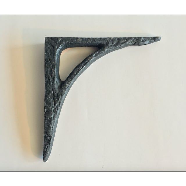Modern Cast Iron Black Shelf Brackets - Set of 6 - Image 4 of 11