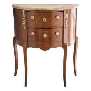 French Louis XVI-Style Demilune Chest