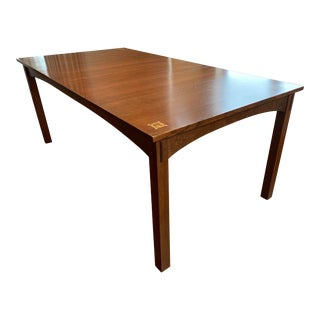 Stickley Harvey Ellis Dining Table With Inlay For Sale