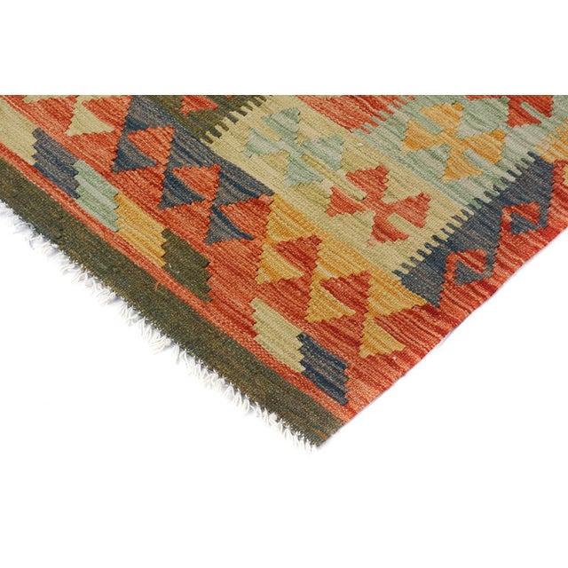 Boho Chic Arya Darwin Gray/Rust Wool Kilim Rug - 6'6 X 9'8 A9296 For Sale - Image 3 of 7