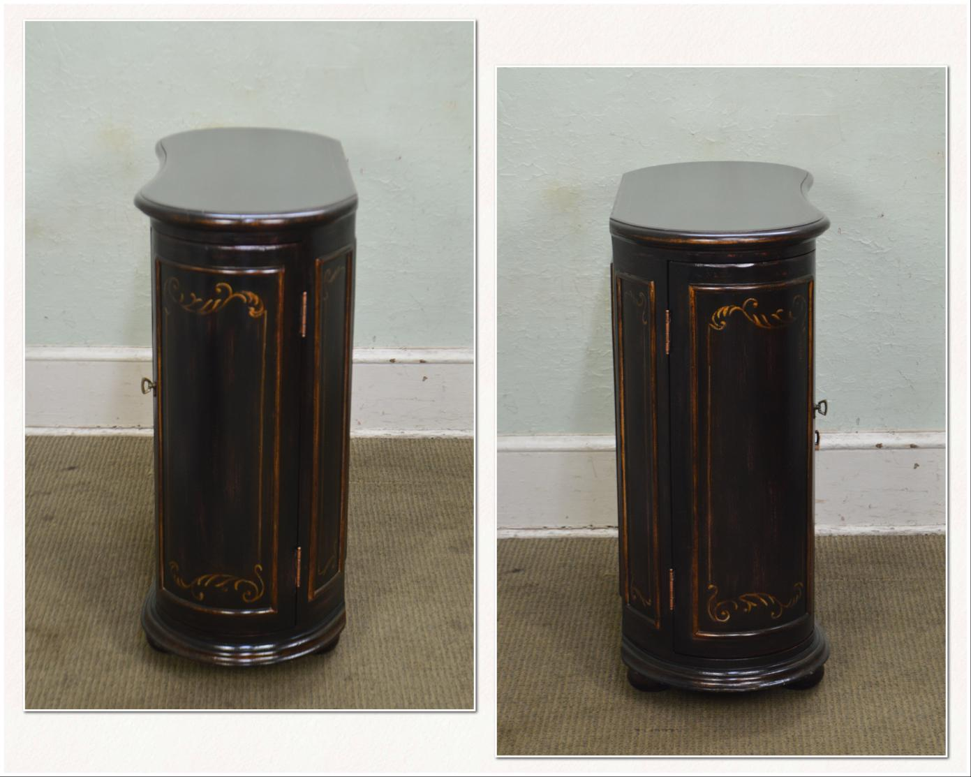 Hooker Seven Seas Collection Black Painted Kidney Shape Console