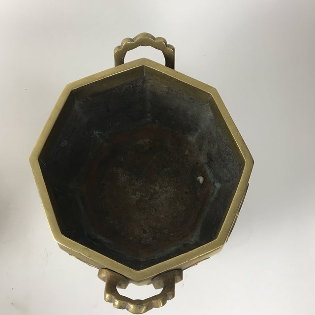 Japanese Brass Planter For Sale - Image 9 of 10