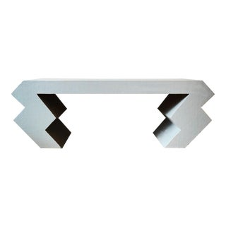 Contemporary Zig Zag Cocktail Table in the Memphis Style For Sale