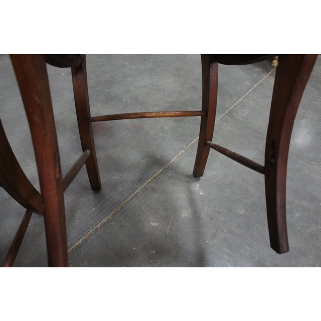 Mid 19th Century Antique Crotch Walnut Federal Empire Cane Seat Dining Side Chairs- Set of 4 For Sale - Image 4 of 12
