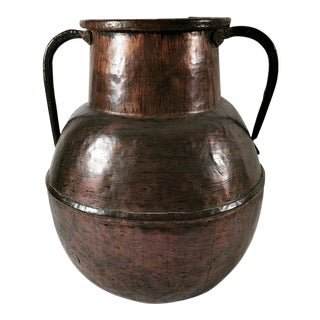 18th-Century French Polished Copper Water Container For Sale