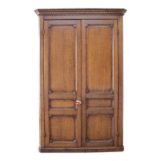 Antique Oak Armoire Cupboard For Sale