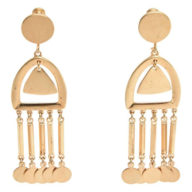 Vintage Vendome Moderne Dangle Screw Back Earrings - a Pair For Sale - Image 9 of 9