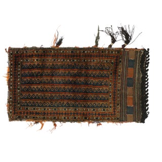 Antique Afghan Baluch Balisht Bag, Tribal Style Nomadic Wall Hanging For Sale
