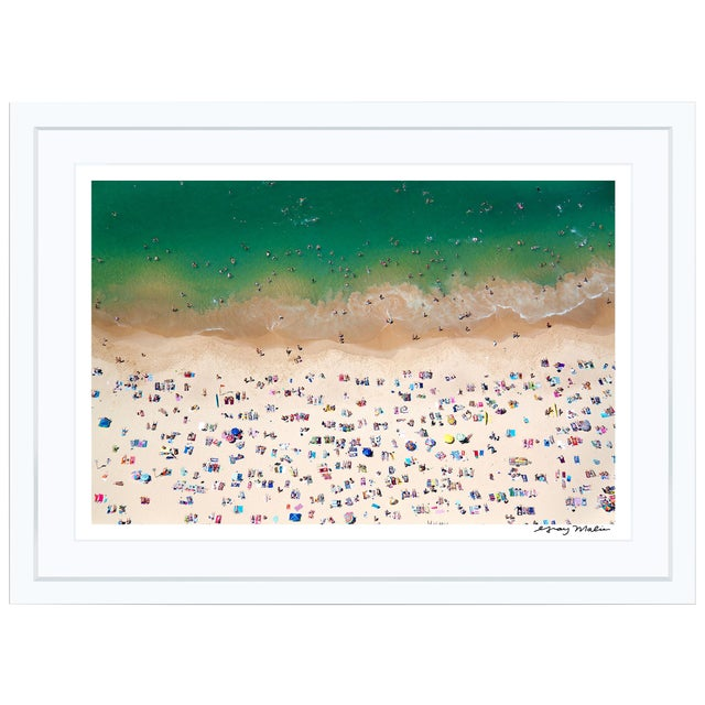 """Gray Malin Large """"Coogee Beach"""" (à La Plage) Framed Limited Edition Signed Print For Sale"""