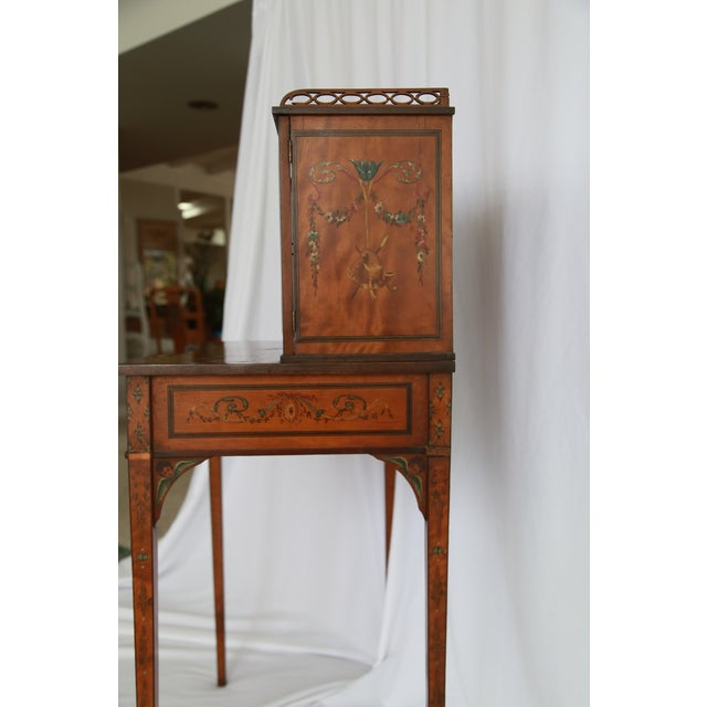 19th Century Federal Hand-Painted Secretary Desk For Sale In Los Angeles - Image 6 of 12