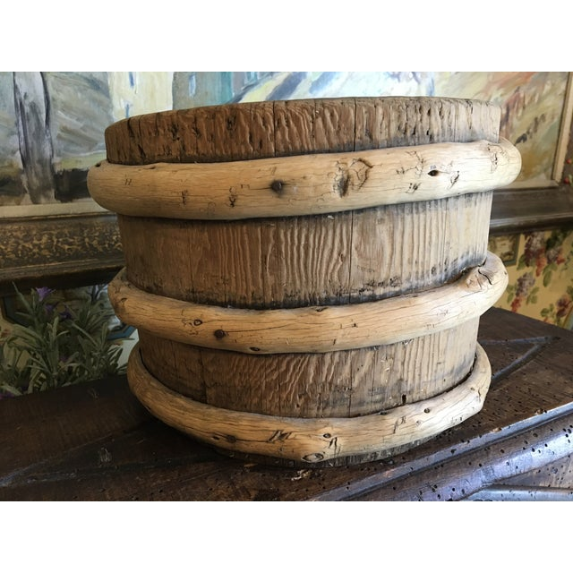 Antique French Wood Water Vessel Bucket Container For Sale - Image 4 of 8