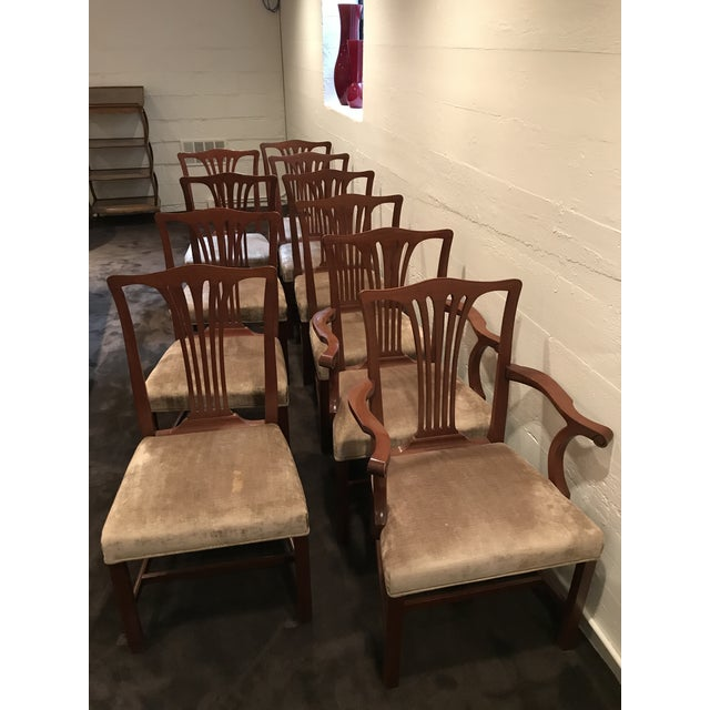 Arthur Brett Mahogany Sunbury Park Dining Chairs - Set of 10 - Image 2 of 10