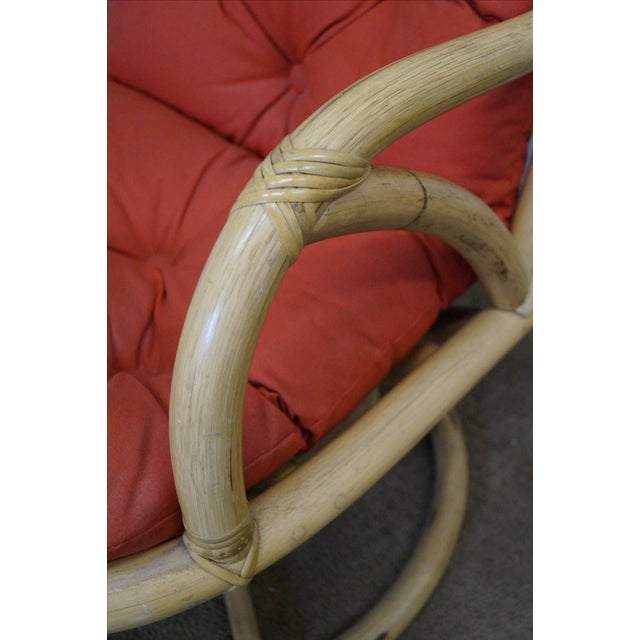 Clark Casual Bamboo Swivel Lounge Chairs - Pair - Image 5 of 10
