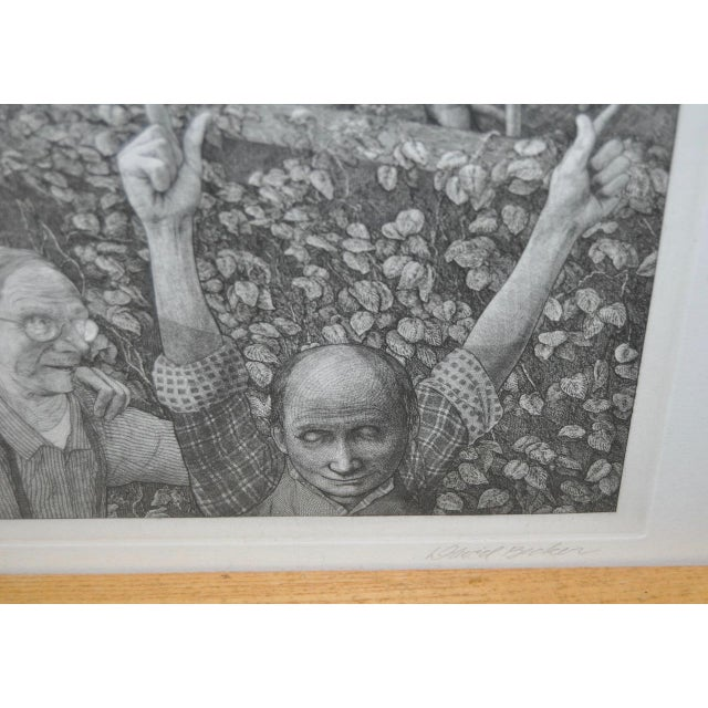 David Becker Pencil Signed Etching C.1970s For Sale - Image 9 of 11