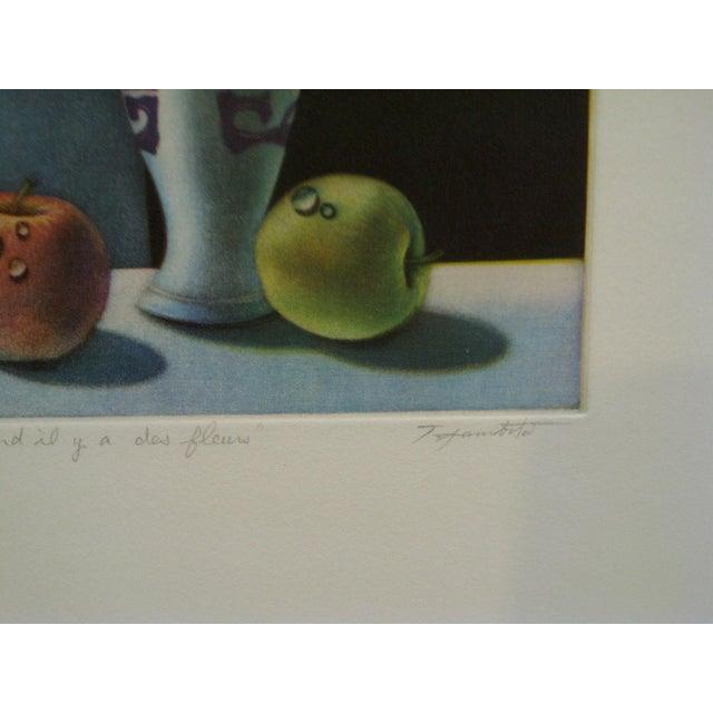 "Screen Print ""Quand Il Y Aura Des Fleurs"" by Tanibata For Sale - Image 4 of 6"