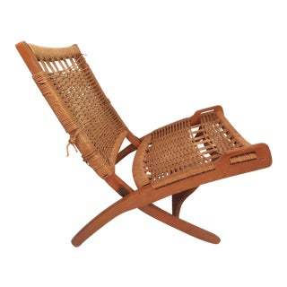 Mid-Century Modern Folding Chair After Wegner For Sale