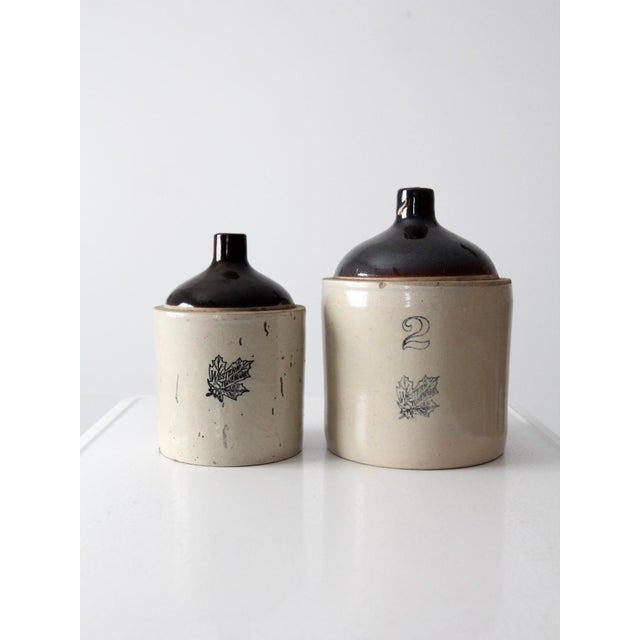 Antique Western Stoneware Jugs - A Pair For Sale - Image 9 of 9