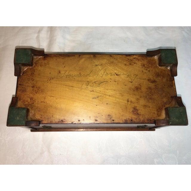 Vintage Burl Oak Gentleman's Trinket Box - Image 5 of 6