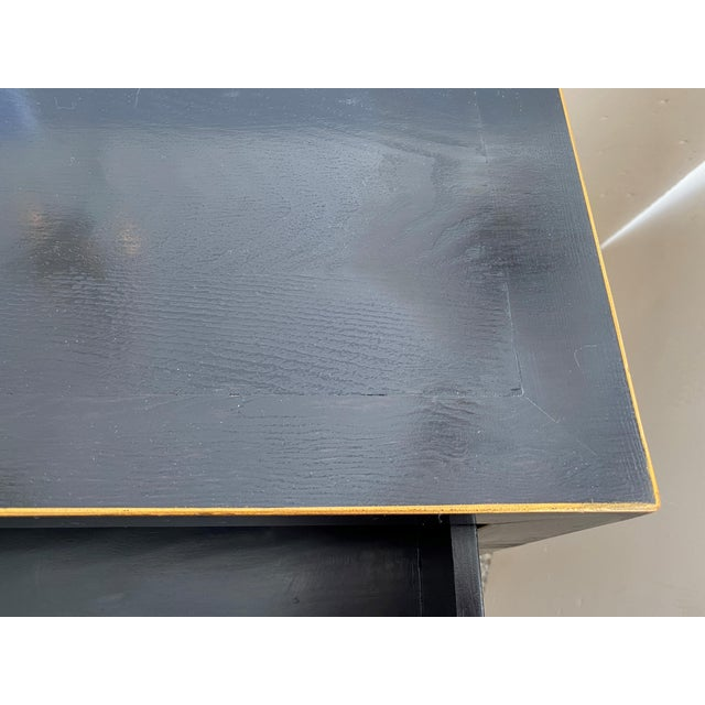 Ebonized Three-Drawer Console Table For Sale In West Palm - Image 6 of 13