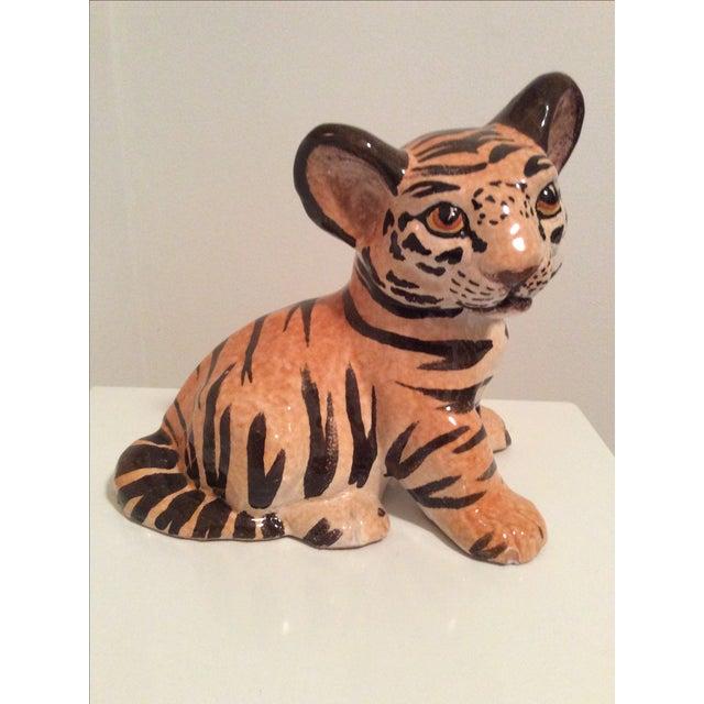 Vintage Italian Ceramic Tiger Cub Figurine - Image 2 of 7