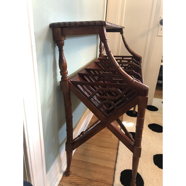 Chinoiserie Faux Bamboo Book Trough Console Table For Sale In Tulsa - Image 6 of 8