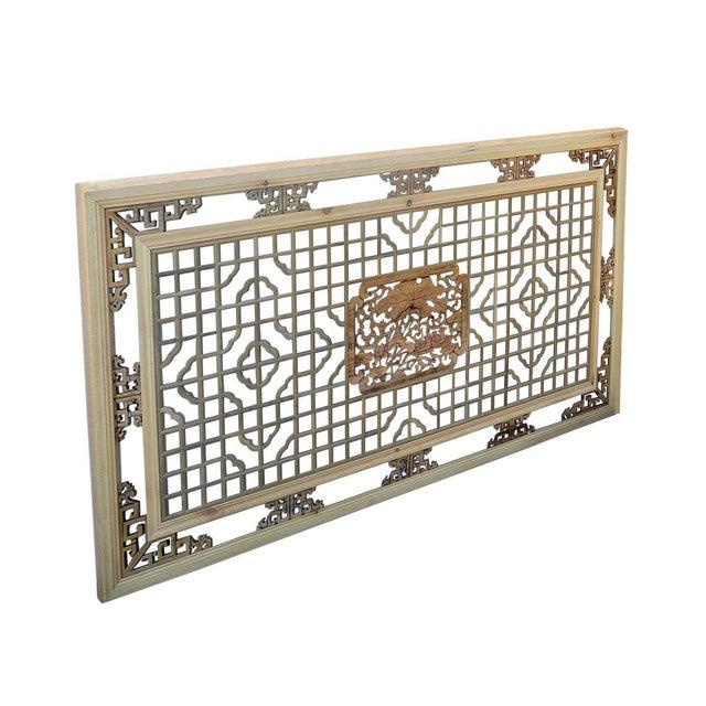 Asian Geometric Lotus Ducks Wood Wall Decor For Sale - Image 3 of 6