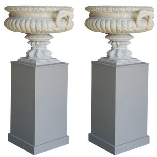 19th Century French Les Vases Avec Serpents - a Pair For Sale