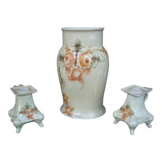 Vintage Vase & Candleholder - Set of 3 For Sale