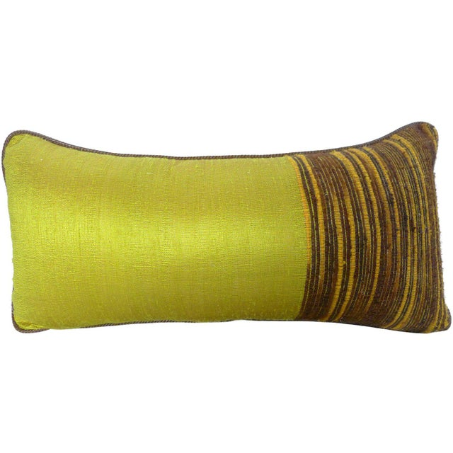 Textured pillow made from handwoven Thai silk. Feather/down insert. PLEASE PROVIDE PROPER HEIGHT MEASUREMENT