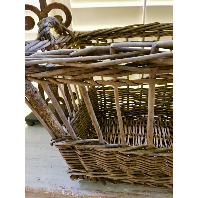 Vintage French Wicker Boulangerie Bakery Bread Basket For Sale In Charlotte - Image 6 of 9