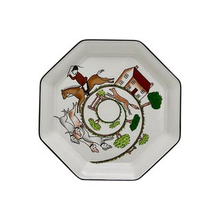 Wedgwood Hunting Scene Octagonal Plate For Sale