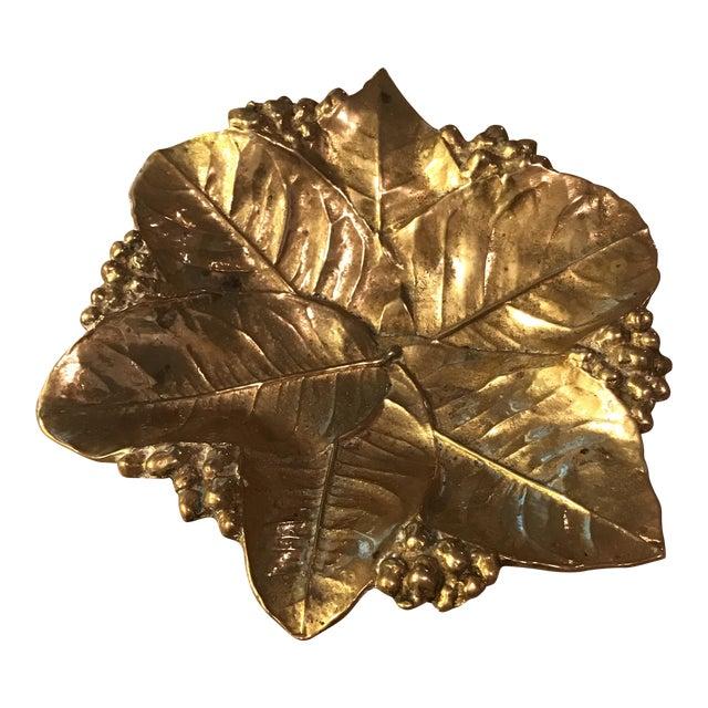 Virginia Metal Crafters Brass Lemon Leaves Tray - Image 1 of 9