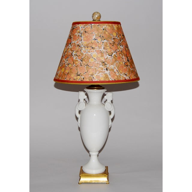 Neoclassical Lamp W/ Marble Lampshade - Image 2 of 5