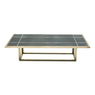 Italian Mid-Century Brass Chrome Coffee Table by Romeo Rega For Sale