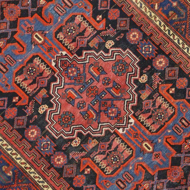 Antique Persian Hamadan Rug with Modern Tribal Style For Sale - Image 4 of 8