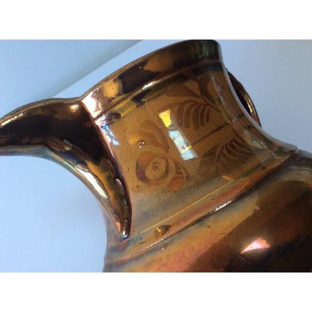 English Victorian Copper Lustreware Pitcher Jug For Sale - Image 5 of 8