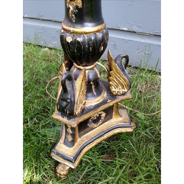 Italian Pricket Candlestick Lamps - A Pair For Sale - Image 7 of 9