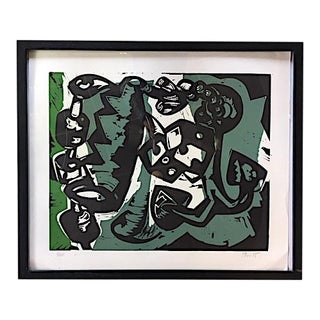 Untitled Woodblock Print by Charlie Hewitt For Sale