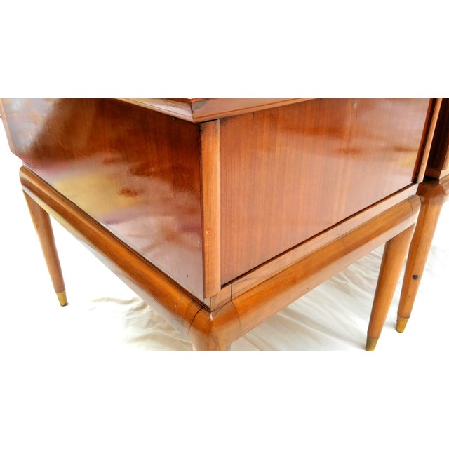 Mid Century Walnut Nightstands - a Pair - Image 8 of 10